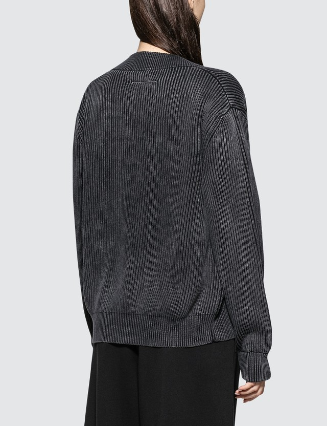 MM6 Maison Margiela Sun Bleach Rib Zip Pullover