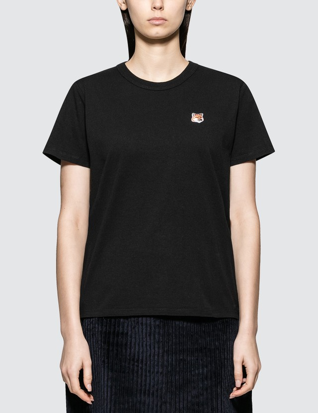 Maison Kitsune Fox Head Patch Short Sleeve T-shirt