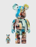 Medicom Toy Be@rbrick Jean Michel Basquiat #6 100% & 400% Set Picture