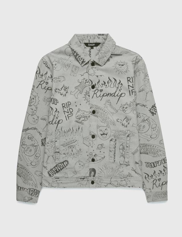 RIPNDIP Sharpie Denim Jacket Light Denim Wash Men