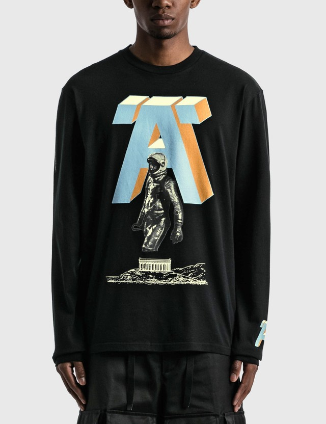 Undercover 'A' Printed Long Sleeve T-shirt Black Men