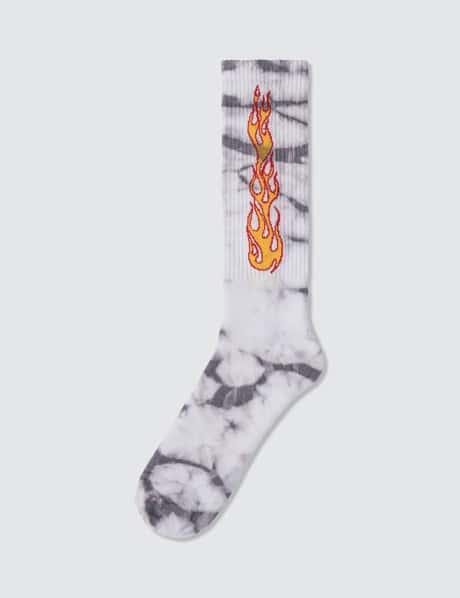 팜 엔젤스 양말 Palm Angels Tie Dye Flames Socks