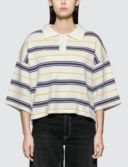 Ader Error Knit Cropped Polo