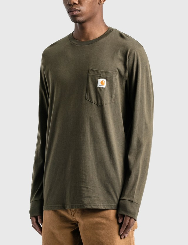 Carhartt Work In Progress Pocket Long Sleeve T-Shirt Cypress Men