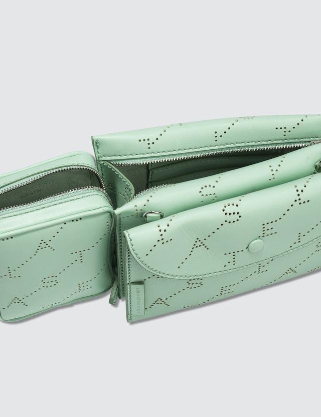 Stella McCartney Two-way Monogram Utility Belt Bag in Pastel Green