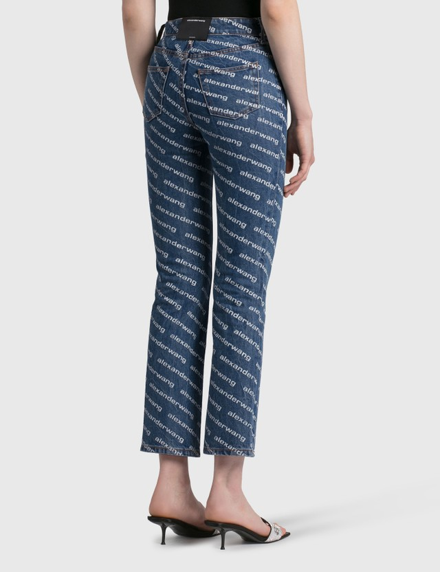 Alexander Wang.T High Rise Slim Jeans Deep Blue/white Women