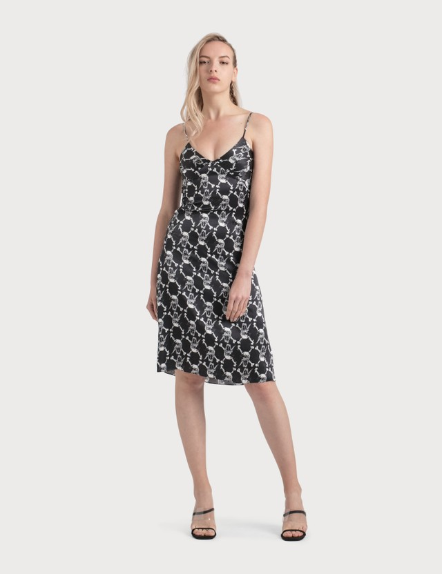 Ashley Williams Skull Print Silk Dress Black Women