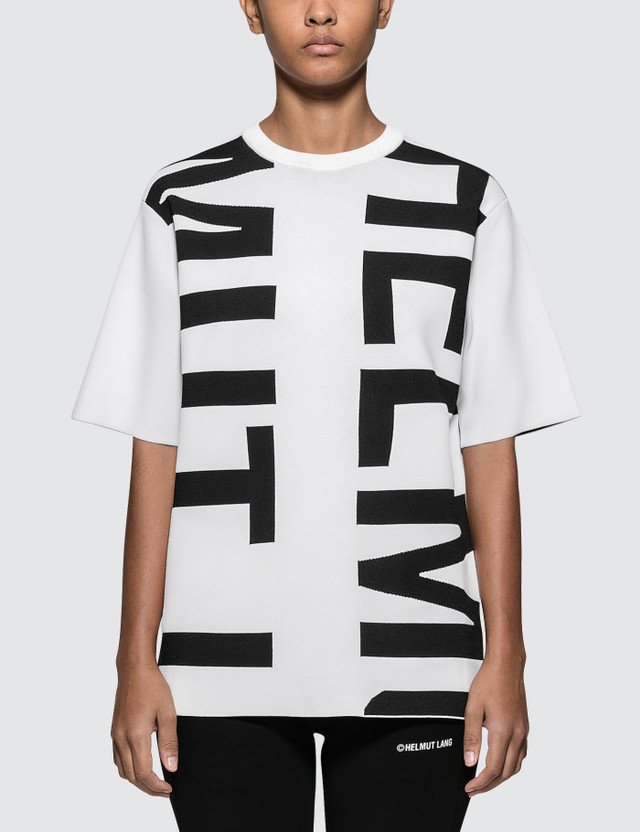 Helmut Lang Helmut Logo Short Sleeve T-shirt White Women