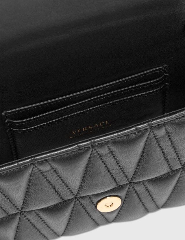 Versace Virtus Quilted Evening Bag Nero-oro Tribute Women