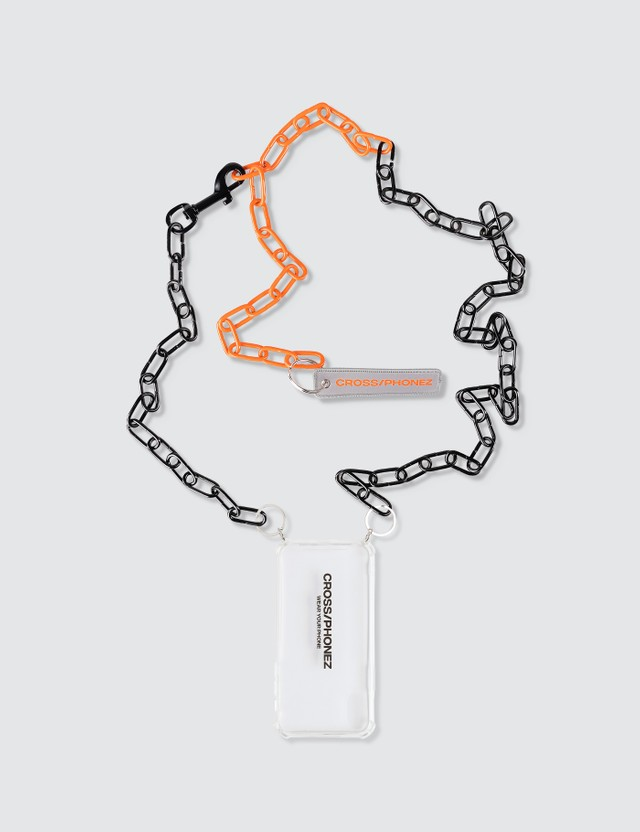 CROSS/PHONEZ Black And Orange Chain iPhone Case