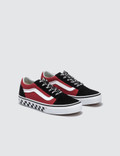 Vans Old Skool Kids (logo Pop) Black/true White Kids