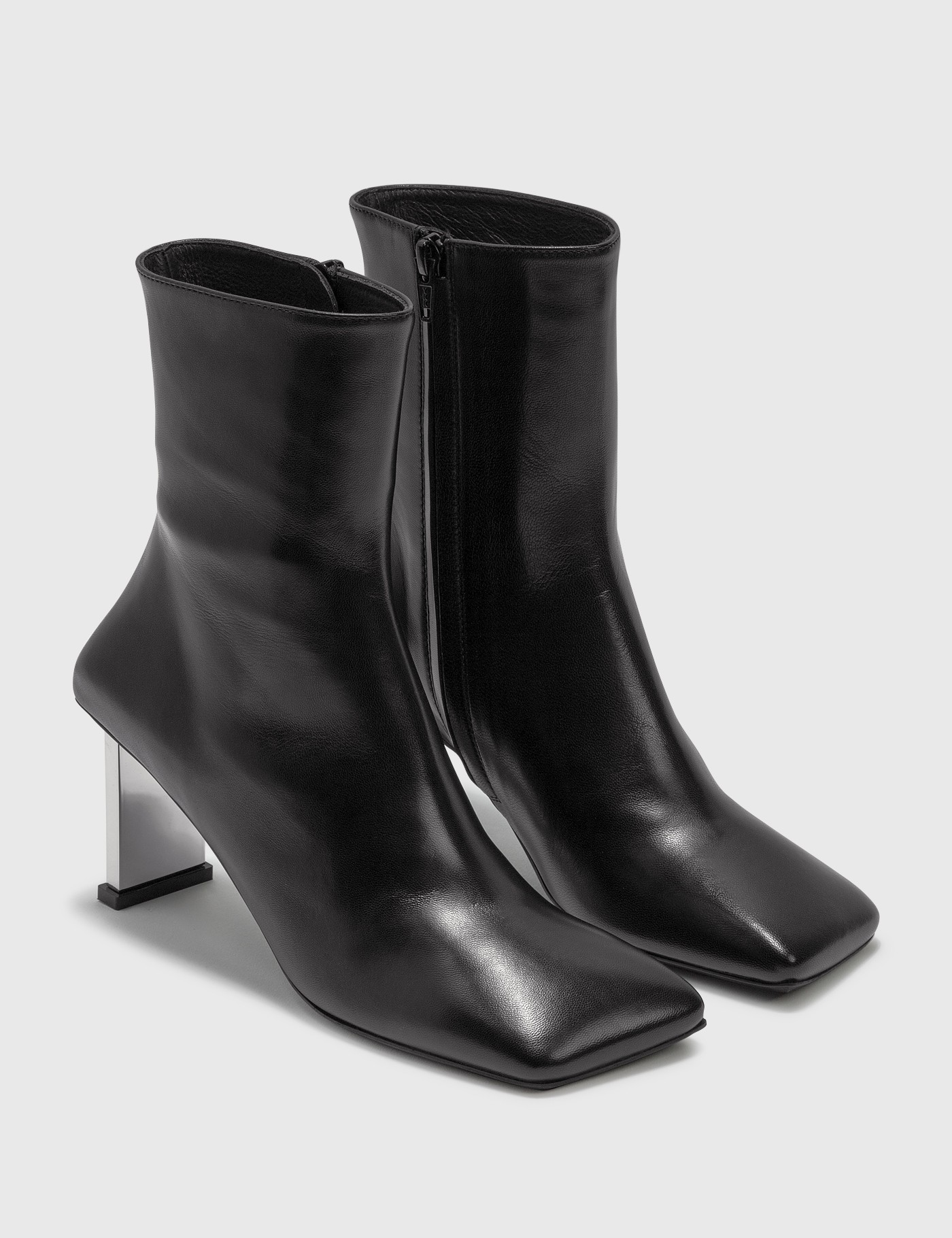 Misbhv METAL BAR SQUARE ANKLE BOOTS
