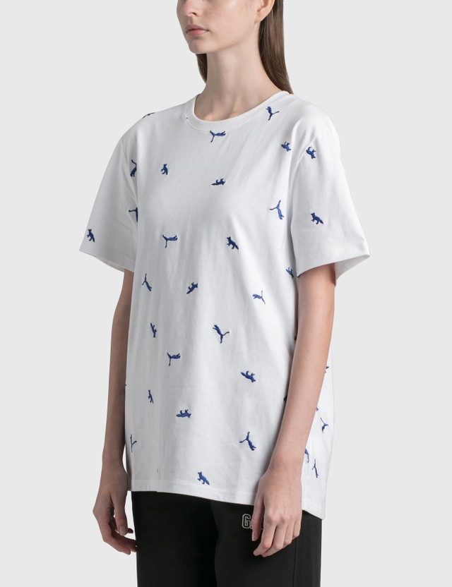 Puma Maison Kitsune x Puma Aop T-Shirt Puma White-aop Women