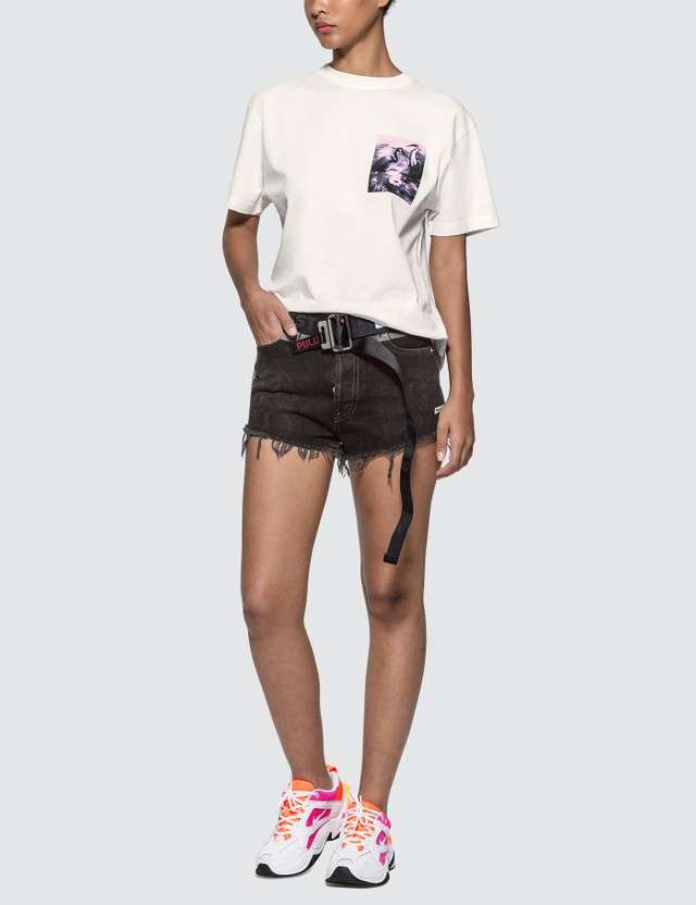 Heron Preston Tape Wash Denim Shorts