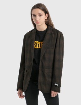 Stussy Shadow Plaid Sport Blazer