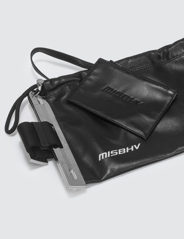 Misbhv Leather Banana Bag
