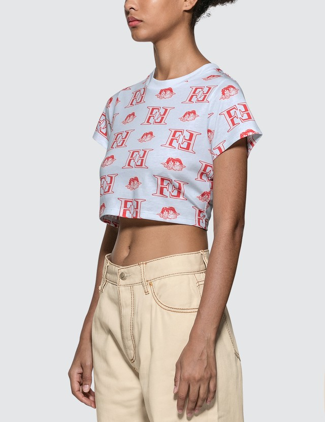 Fiorucci Monogram Cropped T-shirt