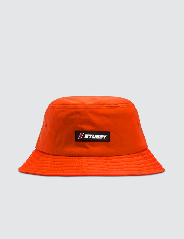Stussy Nylon Rubber Patch Bucket Hat