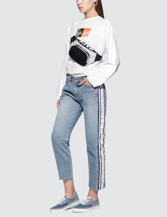 SJYP Sleeves Stripe Tape Tee