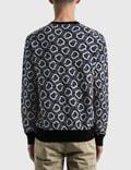 Moncler All-over Logo Knitted Sweater Black Men