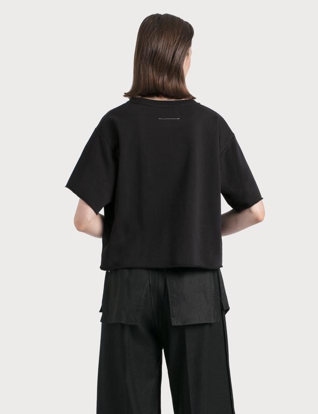MM6 Maison Margiela Logo Print T-Shirt Black Women
