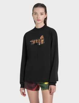 MSGM Cat Logo Sweatshirt