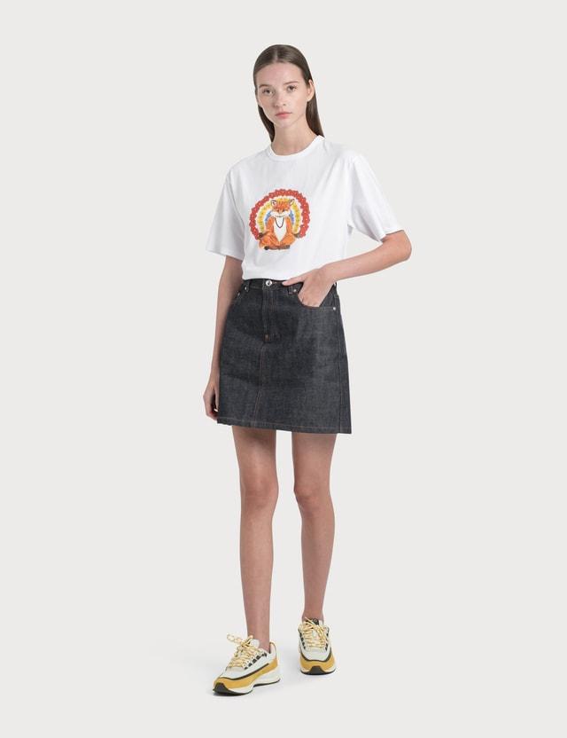 Maison Kitsune Flower Fox Print T-Shirt