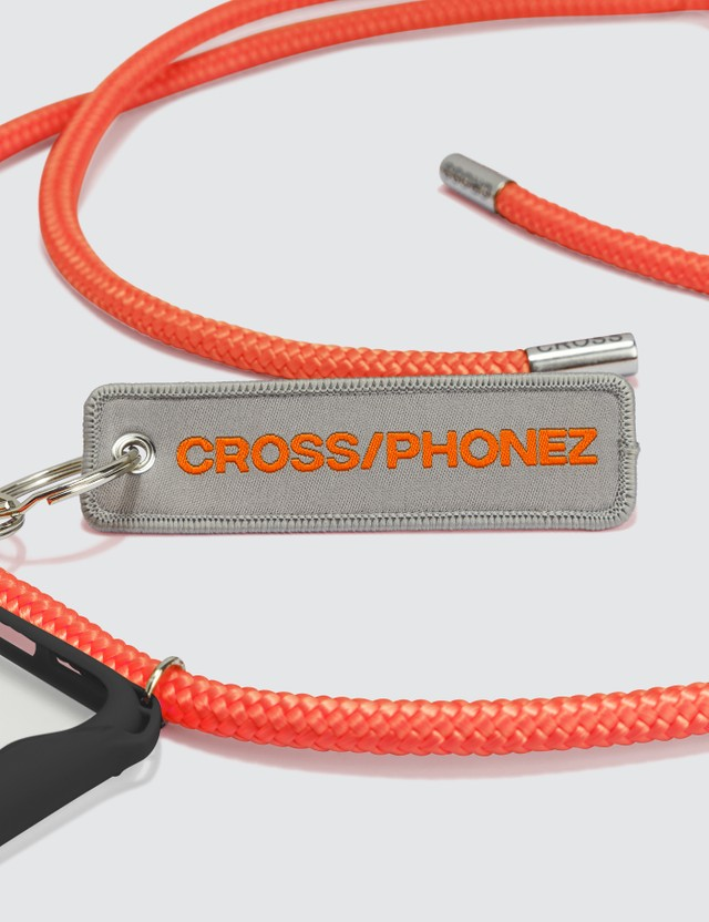 CROSS/PHONEZ Neon Orange Rope With Silver Details iPhone Case