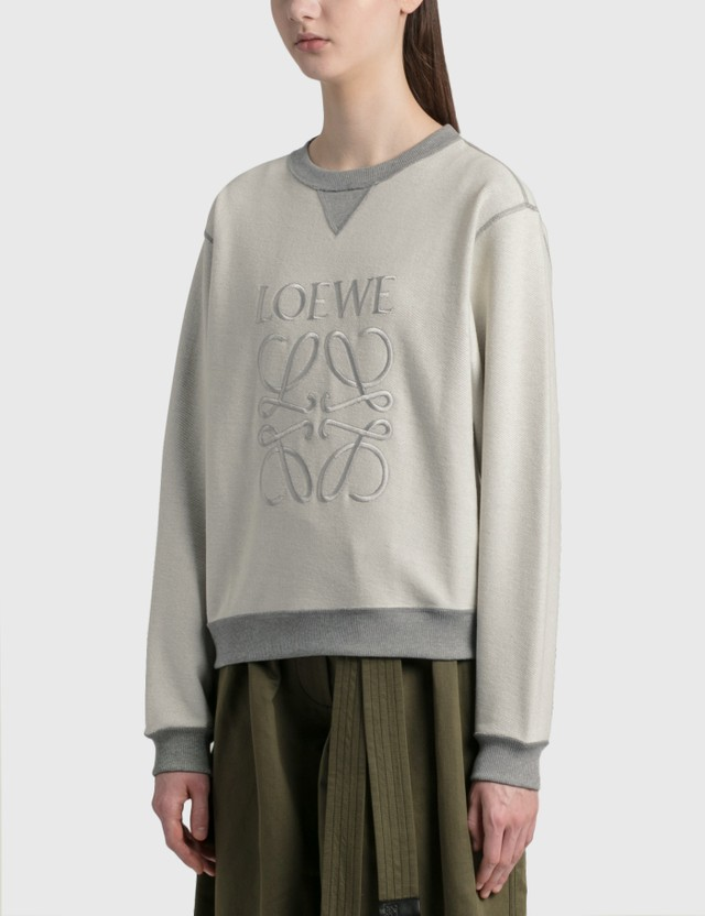 Loewe Anagram Sweatshirt Grey Melange Women