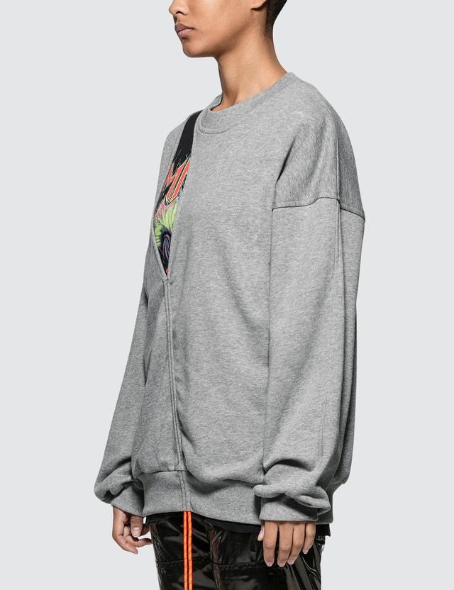 Maison Margiela Cut Out Fleece Sweatshirt