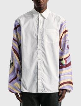 Raf Simons Extended Sleeves Boxy Shirt