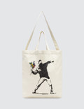 "Medicom Toy Sync.-Brandalism ""Flower Bomber"" Herringbone 2way Tote Bag Picture"