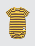 Mini Rodini Stripe Rib SS Body Picture