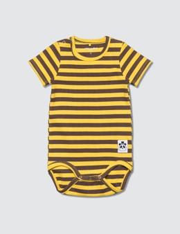Mini Rodini Stripe Rib SS Body