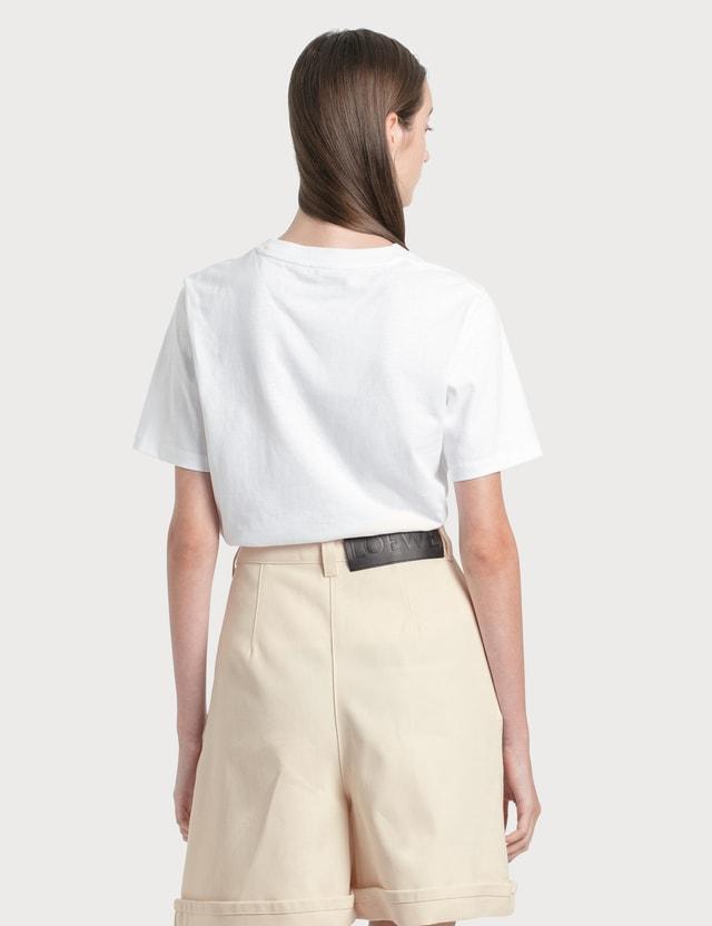 Loewe Anagram Brooch Print T-Shirt White Women