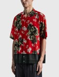Undercover Overall Printed Shirt Red Base Men