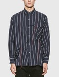 JieDa Hand Stitch Stripe Shirt Picture