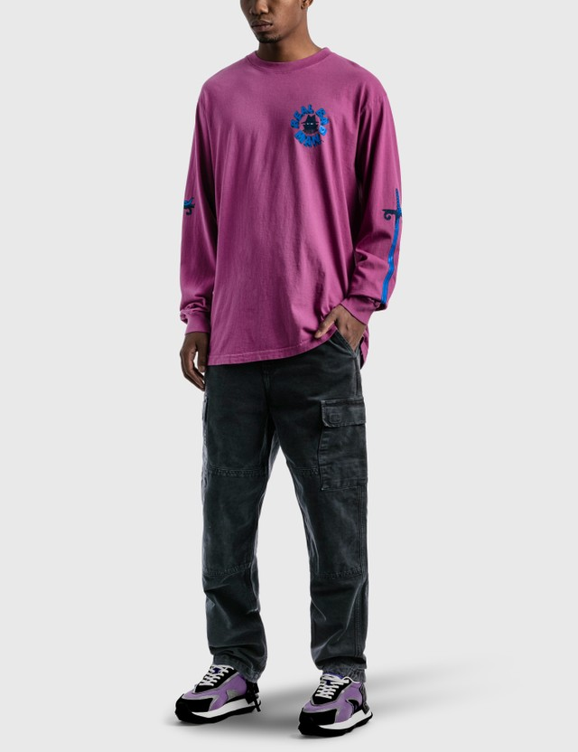 Real Bad Man Exterminate Long Sleeve T-Shirt Purple Men