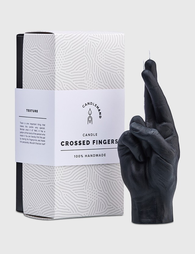 Candle Hand CROSSED FINGERS Candle