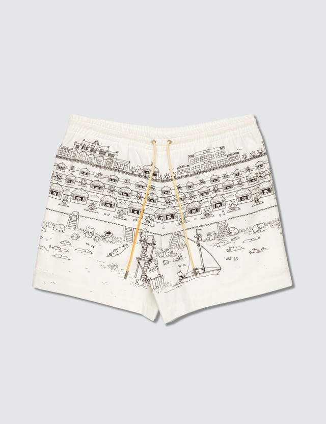 Lanvin Babar Print Swim Shorts 1000 Black/white Men