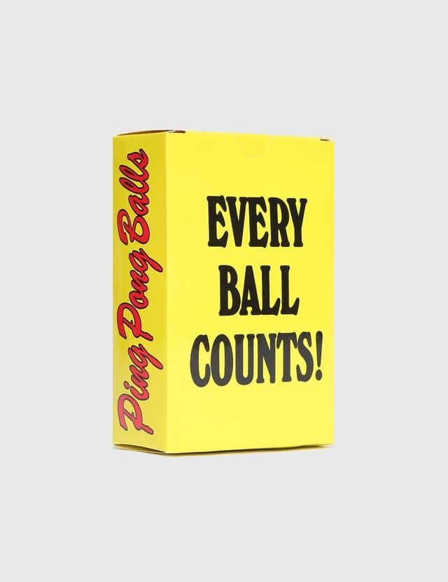 Chinatown Market Smiley Ping Pong Balls Yellow Unisex