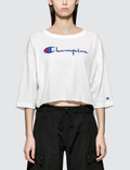 Champion Reverse Weave Cropped 3/4 Sleeves T-shirt Picture