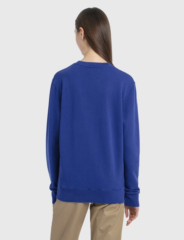 Maison Kitsune Velvet Fox Head Patch Classic Sweatshirt Royal Blue Women