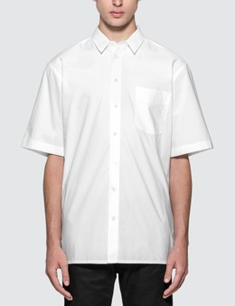 Raf Simons Short Sleeved Shirt With Back Print
