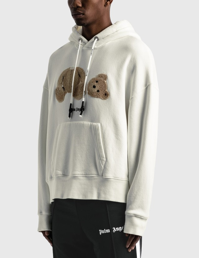 Palm Angels Palm Angels Bear Hoodie White Men