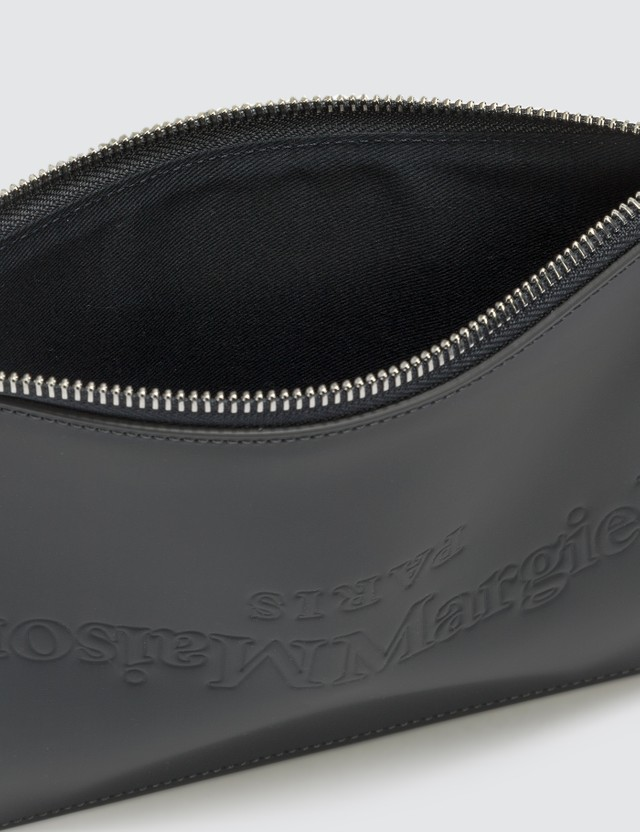 Maison Margiela Rubber Leather Logo Pouch