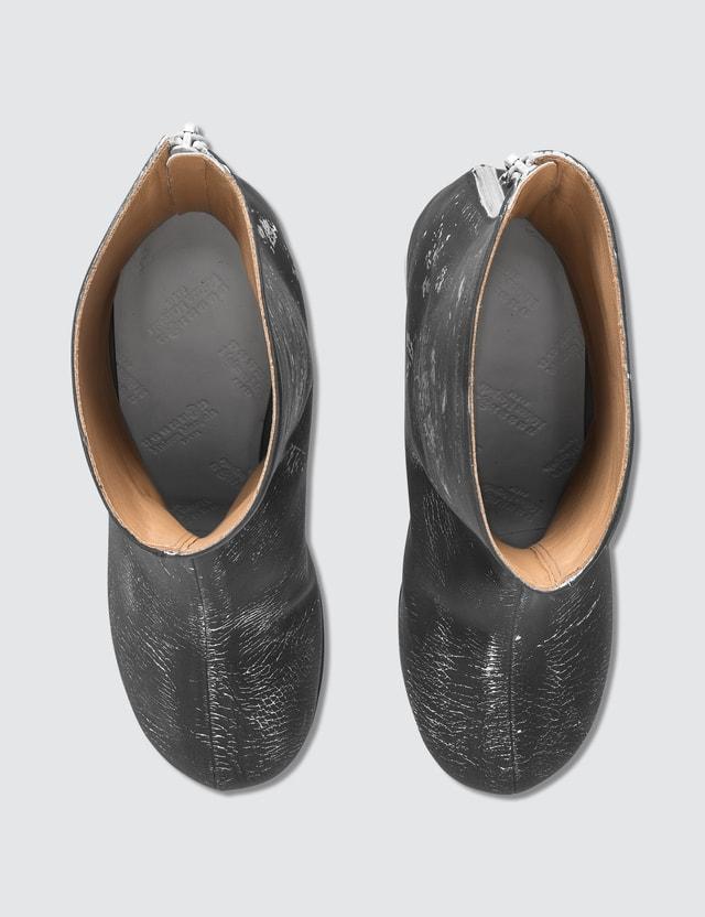 Maison Margiela Crushed Heel Leather Boots