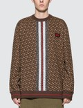 Burberry Monogram Stripe Print Cotton Sweatshirt