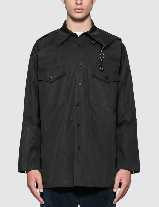 Sankuanz Chest Pocket Shirt Black Men