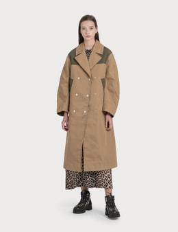 Ganni Double Cotton Coat